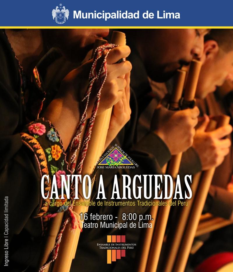 Canto a Arguedas a cargo del Ensamble de Instrumentos Tradicionales del Perú