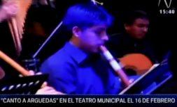 """Concierto """"Canto a Arguedas"""" promo en canal N"""